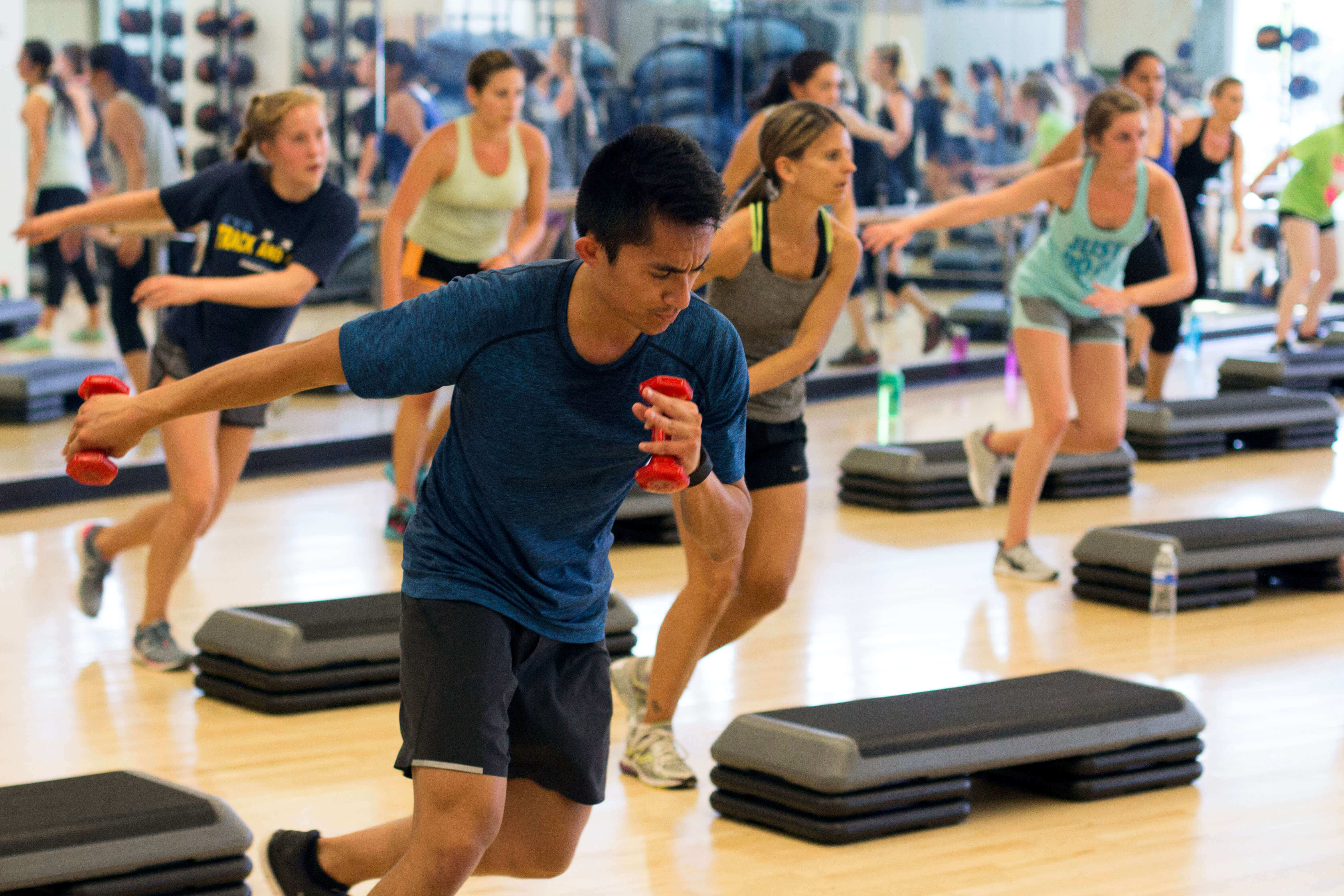 Try a fitness class during spring break at the Cal Poly Recreation Center.