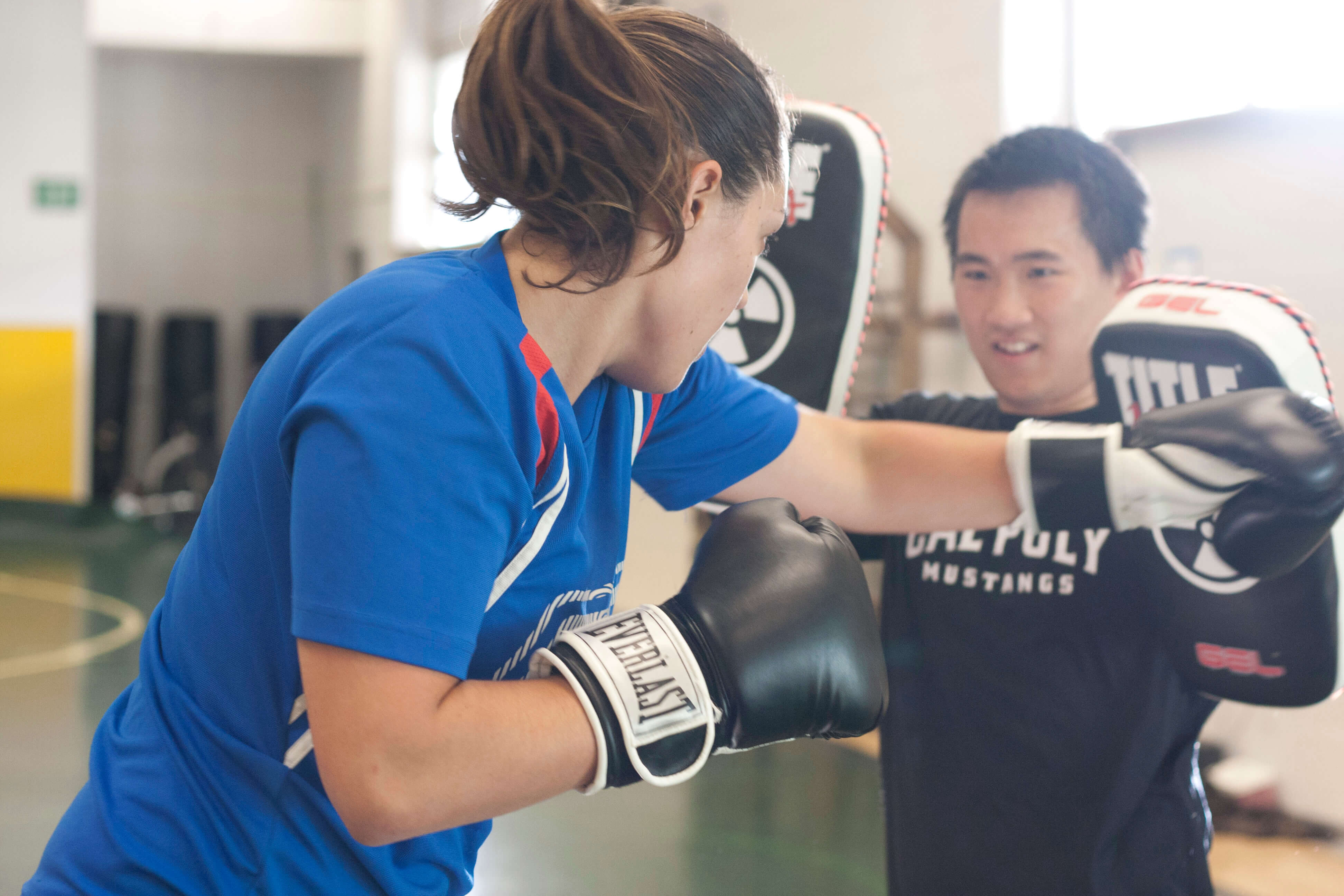 Students participate in Muay Thai Kickboxing