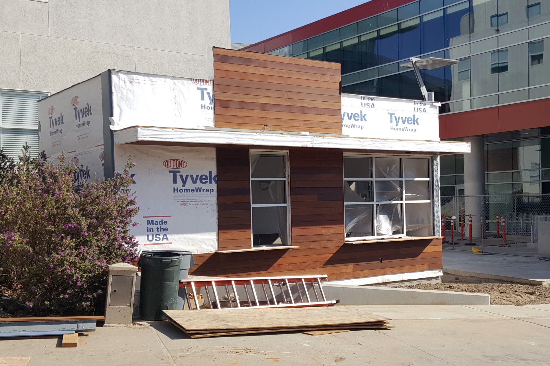 Cal Poly Shake Smart under construction