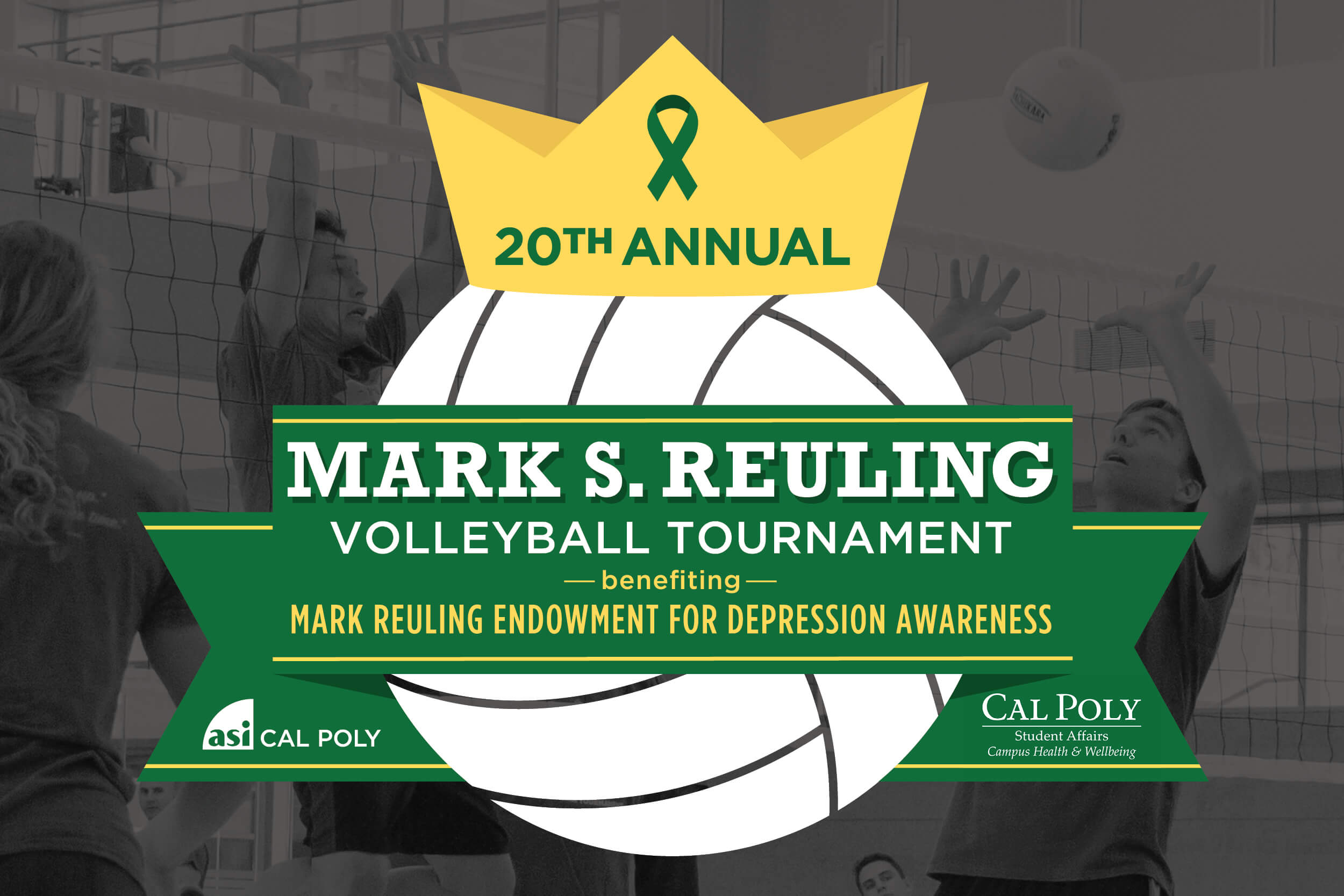 20th annual Mark S. Reuling Volleyball Tournament benefiting Mark Reuling Endowment for depression awareness