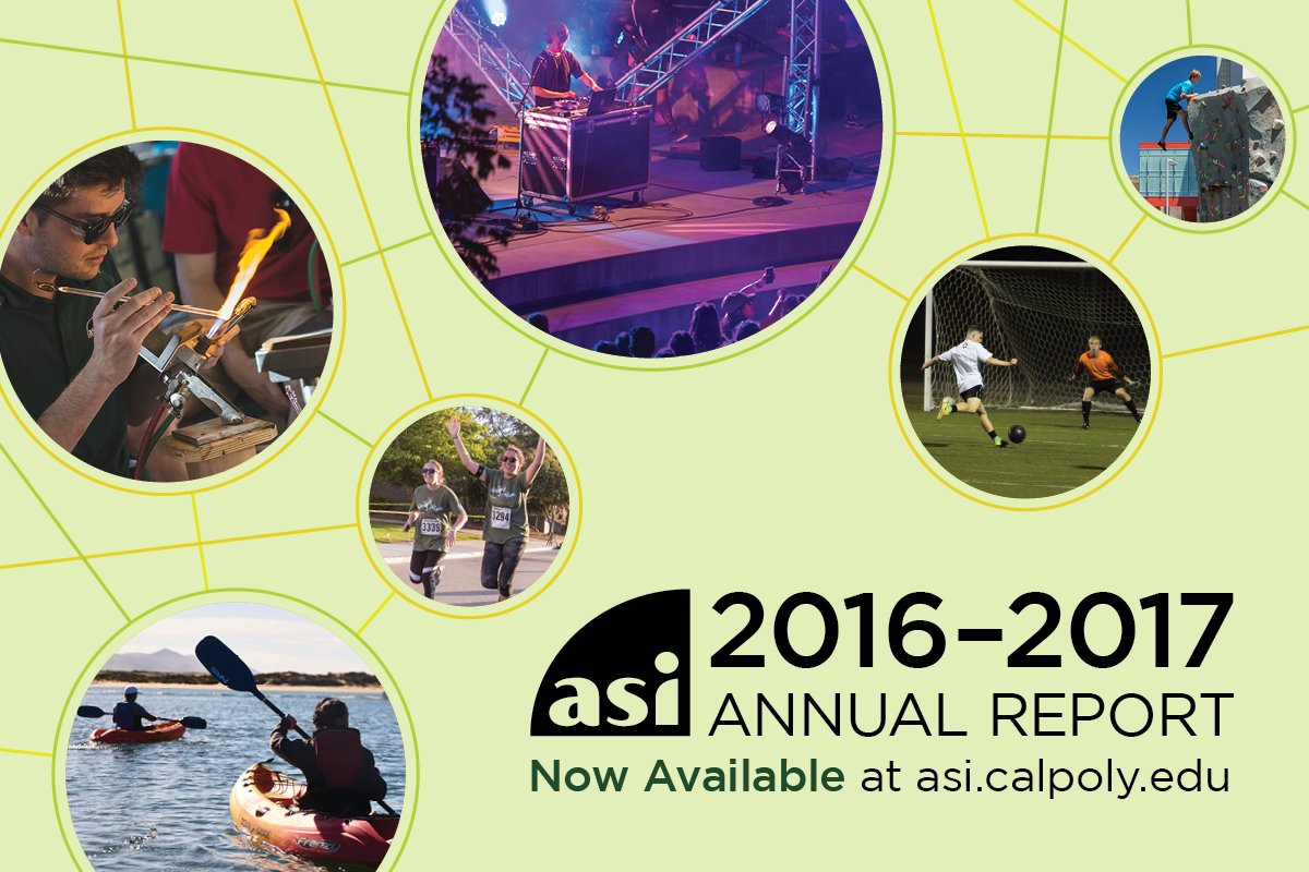 ASI 2016–17 Annual Report Now Available at asi.calpoly.edu